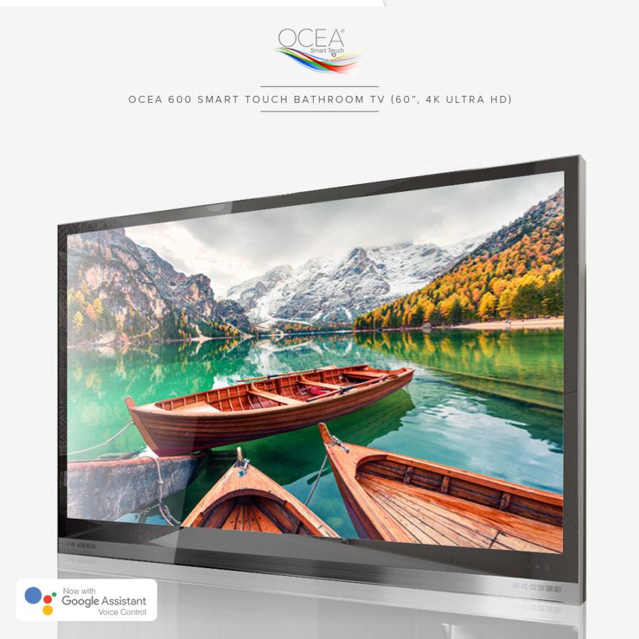 Big display panel 4K ultra HD bathroom TV.