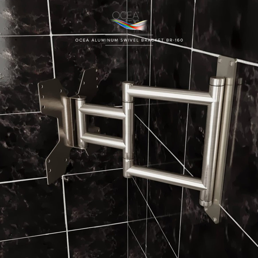 Heavy duty swivel bracket for big bathroom televisions.