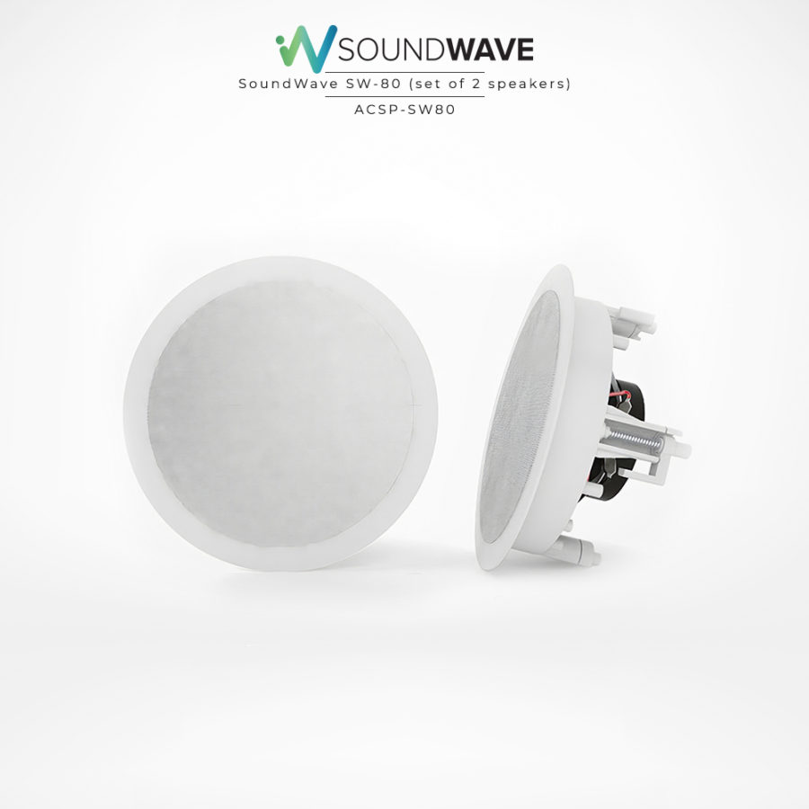 Impressive audio quality set of speakers for bathrooms, outdoors, and boats.