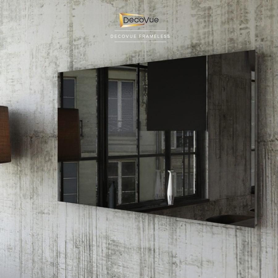 Minimalist and contemporary frameless smart mirror TV.