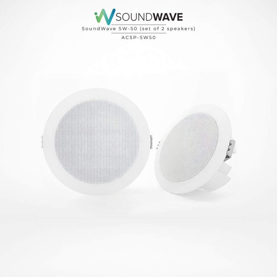 Moisture resistant speakers with excellent audio quality suitable for bathrooms, outdoors, and boats.